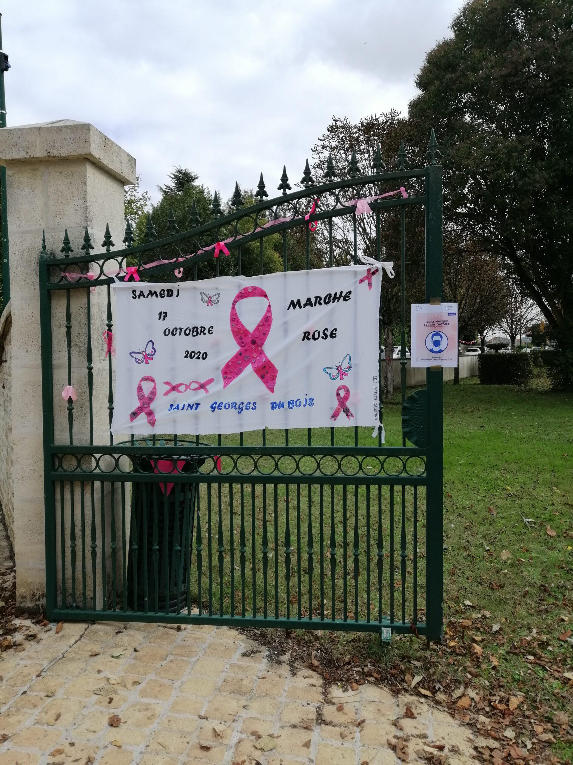 Banderoles pour la marche d'octobre rose